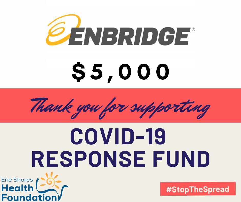 Enbridge donates $5000 to COVID Response